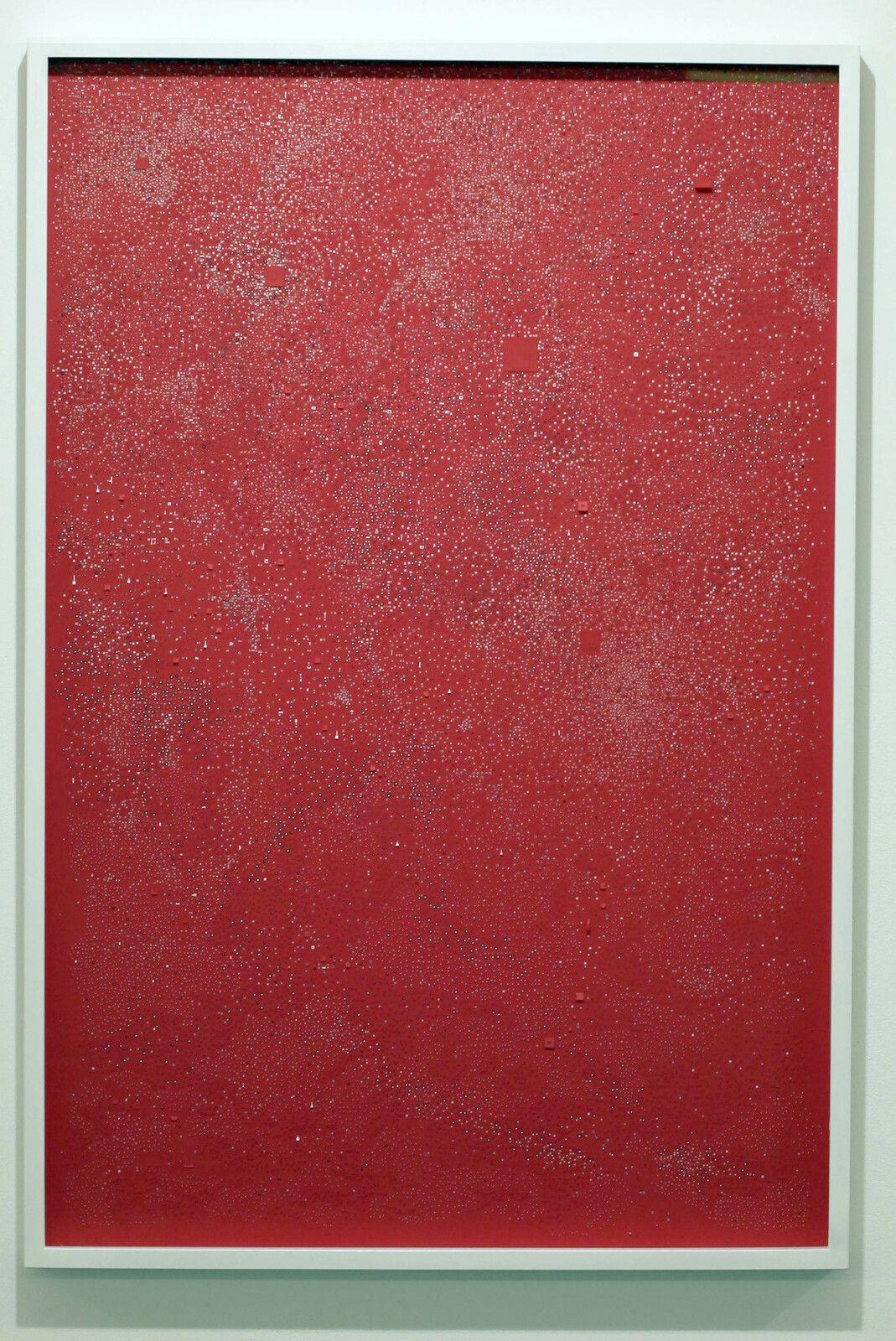 """""""Detailing red"""", 2020 de Marco MAGGI - Courtesy de l'artiste et de la Galerie Xippas Paris © Photo Éric Simon"""
