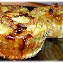 Muffin à la chèvre, à la courgette et au miel