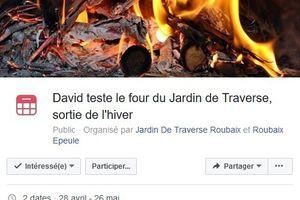 David teste le four du Jardin de Traverse, sortie de l'hiver