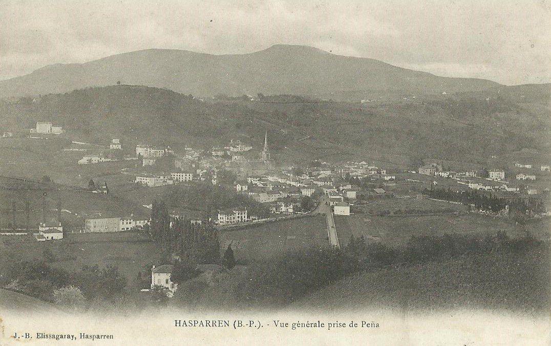 Hasparren (Basses Pyrénées). Vue générale.