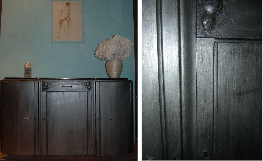 patines sur meuble, meubles relookés, meubles recyclés