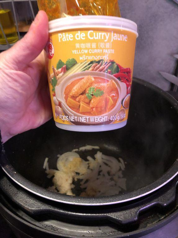 Curry de légumes et riz