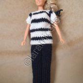 tuto gratuit barbie: marinière manches courtes - Chez Laramicelle