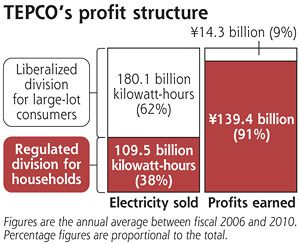 40% of power sold bring 90% profits to TEPCO