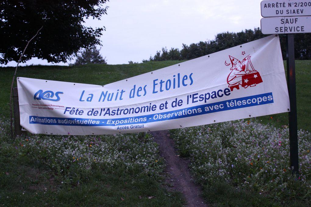 Les 20e Nuits des étoiles à Wingles le vendredi 6 août 2010 avec l'AAS de Saint-Laurent-Blangy et Agorawebtv