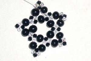Perle nere e swarovsky