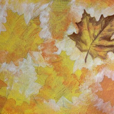 Herbstliche Blätter - eine Malanleitung für Kinder
