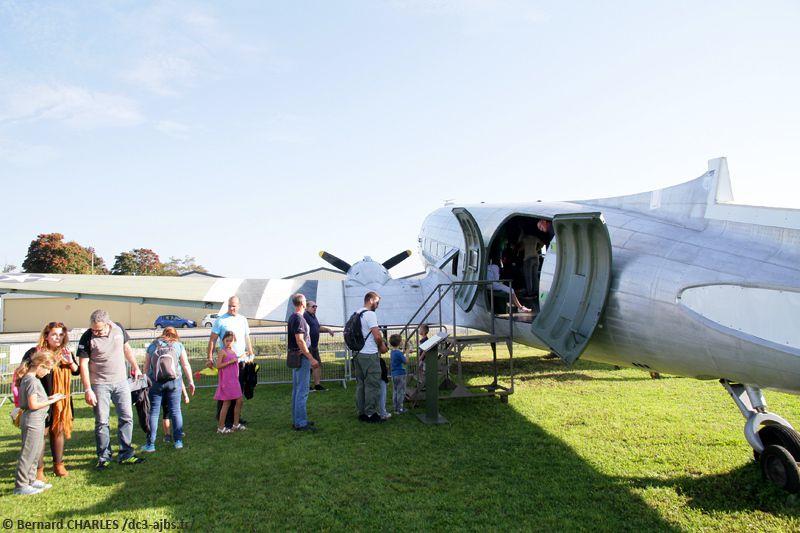 Visites du DC-3 lors de la fête de la science, le 15/10/2017