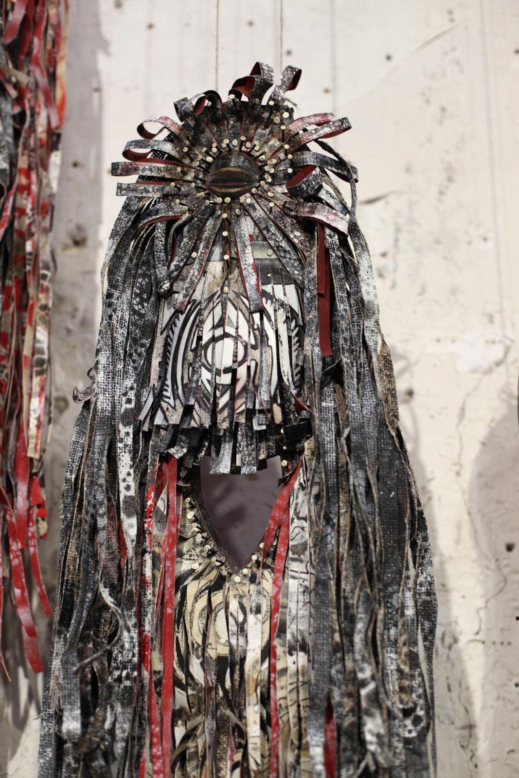 """Détail """"Lares"""" (Gardian Spirits/Deities), 2020 de Jim SANDERS - Courtesy de l'artiste © Photo Éric Simon"""