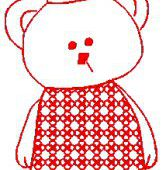 Bunnycup Embroidery - Carnival Bears Redwork