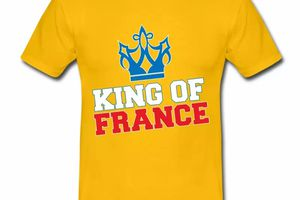 T shirt jaune homme Humour King of France
