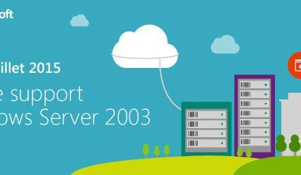 Microsoft : 14 juillet 2015 – Fin du support de Windows Server 2003