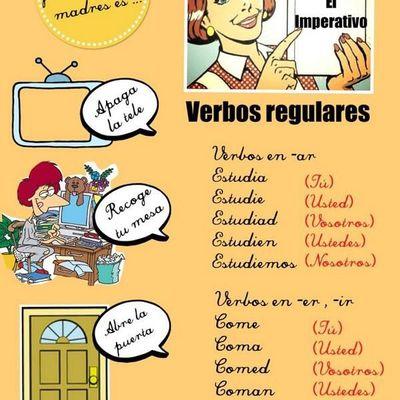 L'impératif: verbes réguliers