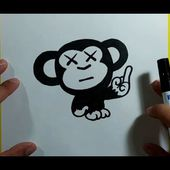 Como dibujar un mono paso a paso 8 | How to draw a monkey 8
