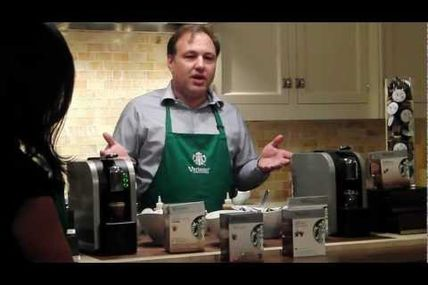 Starbucks R&D Director Paul Camera Demos Verismo 580 One-Cup-at-a-Time Brewing System