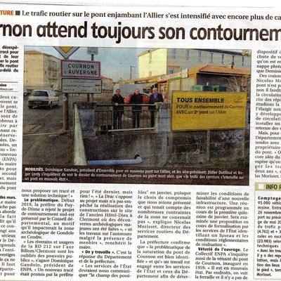 ARTICLE JOURNAL LA MONTAGNE DU 08 01 2020