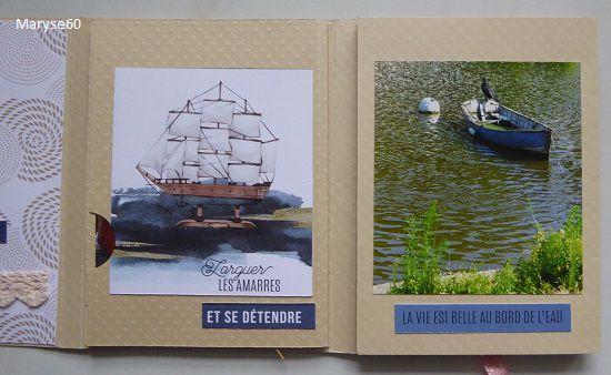 Et pour terminer : un album ! (J'ai scrappé des photos de quelques jours passés cet été avec DH à Nantes).
