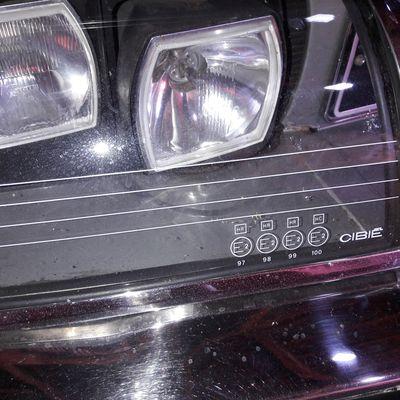 Film sur phares irectionnels après remplacement commendes hydrauliques.