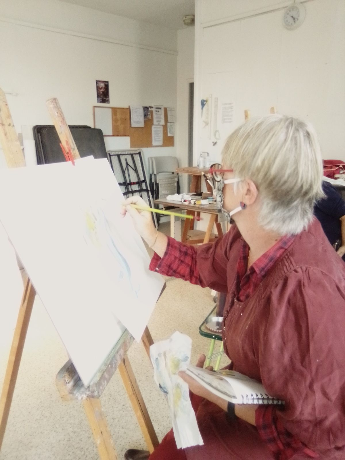 Drapés à la peinture à l'huile avec Zhenyu