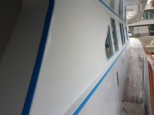 Pacific Pearl exterior painting part one .