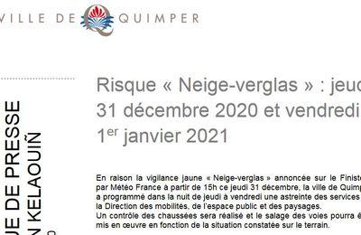 Vigilance Neige-Verglas sur le Finistère (communiqué)