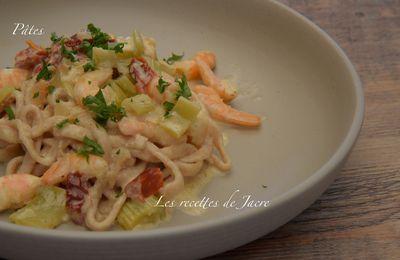 Pâtes et crevettes à la toscane (ou presque)