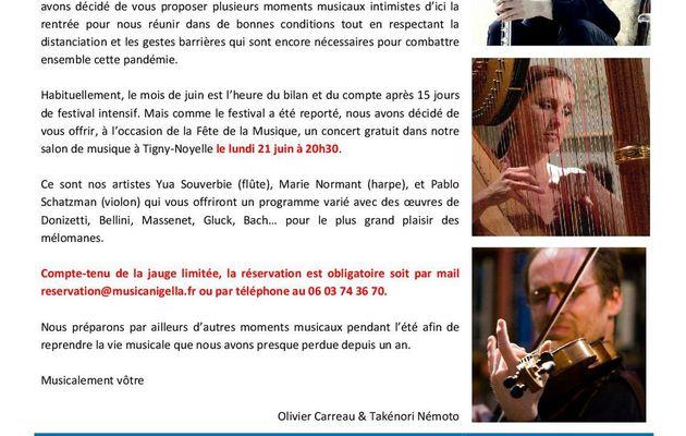 AUJOURD'HUI 21 JUIN 2021 JOUR DE L'ETE ET JOUR DE LA FETE DE LA MUSIQUE QUE SE PASSE T-IL CHEZ MUSICA NIGELLA