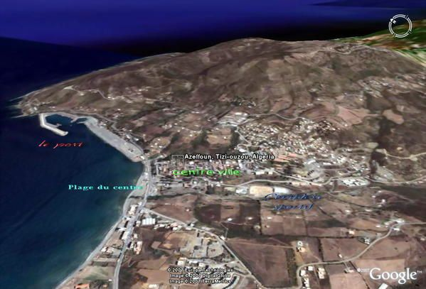 Azeffoun vue par Google Earth