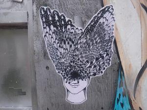 Des plumes forment un couvre-chef sur des têtes féminines.