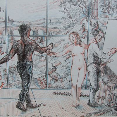 L'atelier du peintre 6 - La peinture a des ennemis - Dessin polémique