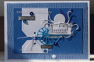 Une carte bleue...
