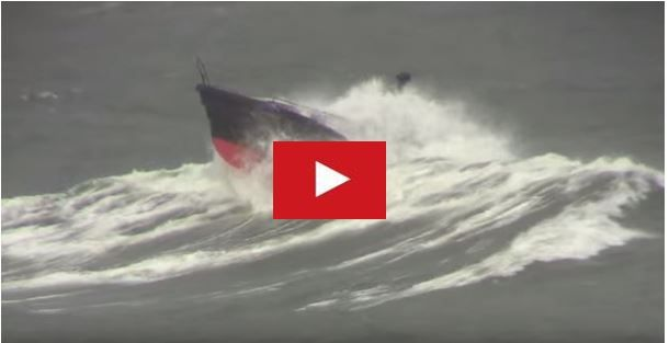 Video of the storm testing of Safehaven Marines 'Barracuda' including footage of her in big breaking waves and 50kt winds off the south coast of Ireland.