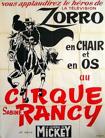 Zorro chez Rancy en 1965, un véritable show équestre