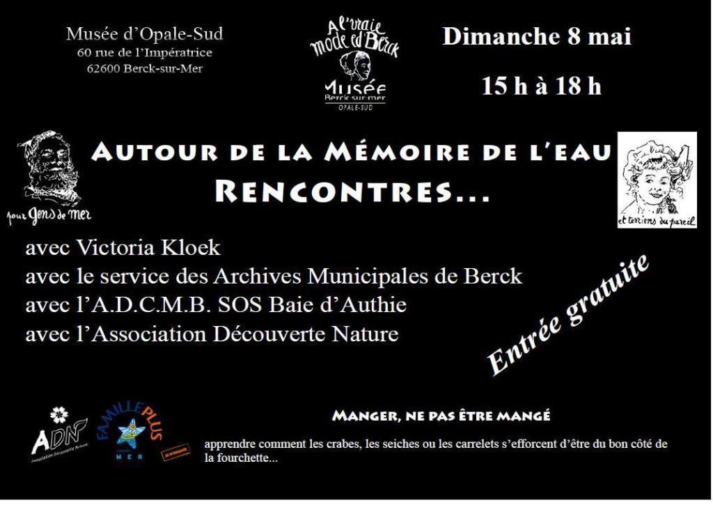 MEMOIRE DE L'EAU ...OUVERTURE DU MUSEE D'OPALE SUD...CE DIMANCHE...