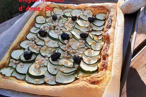 Tarte aux courgettes veggi sans fromage