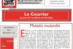 Le courrier Avril-Mai-Juin : journal de la C.G.T Educ'action Versailles.