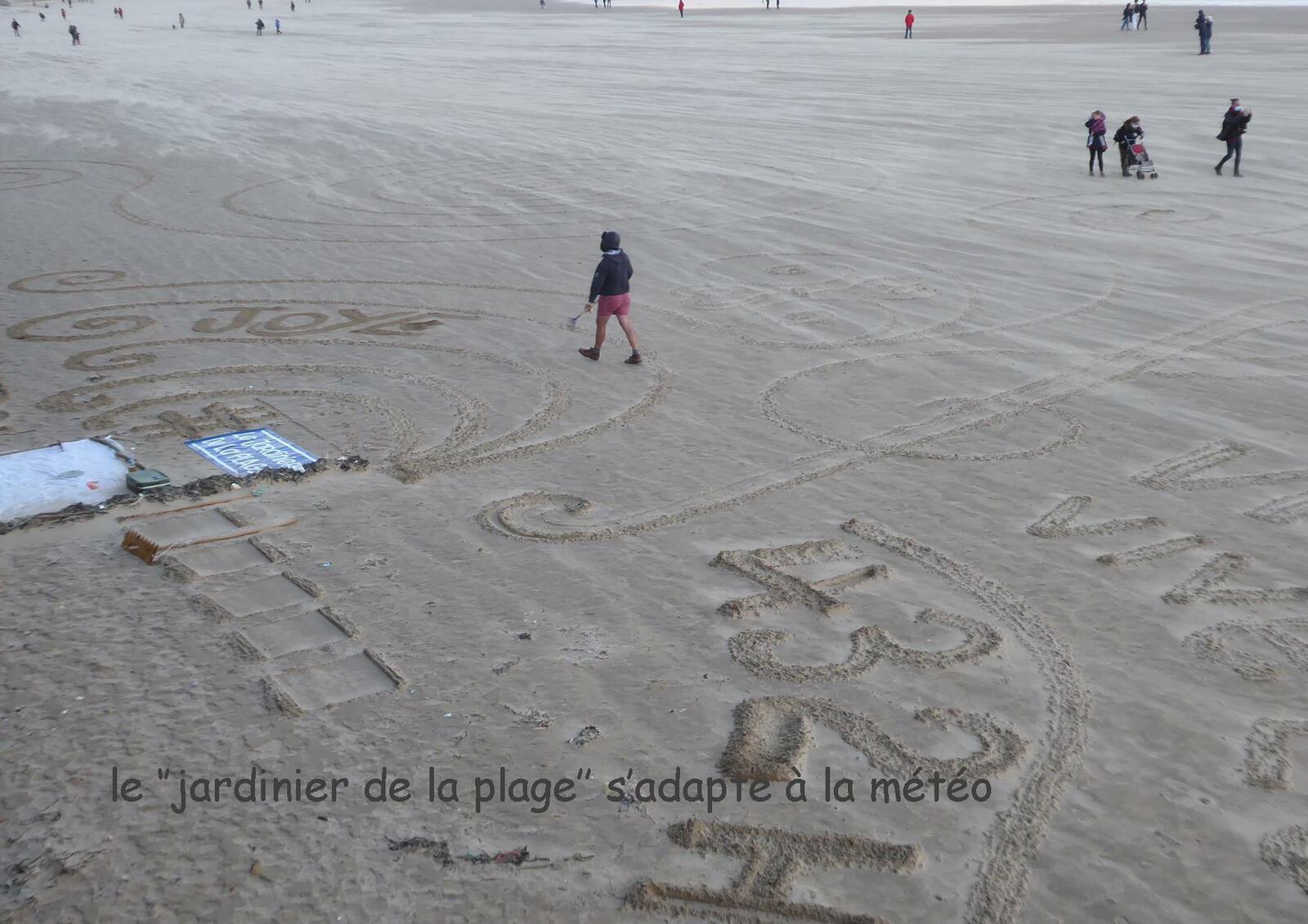 Le jardinier de la plage : vent
