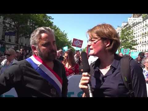 Expressions politiques à la Fête à Macron