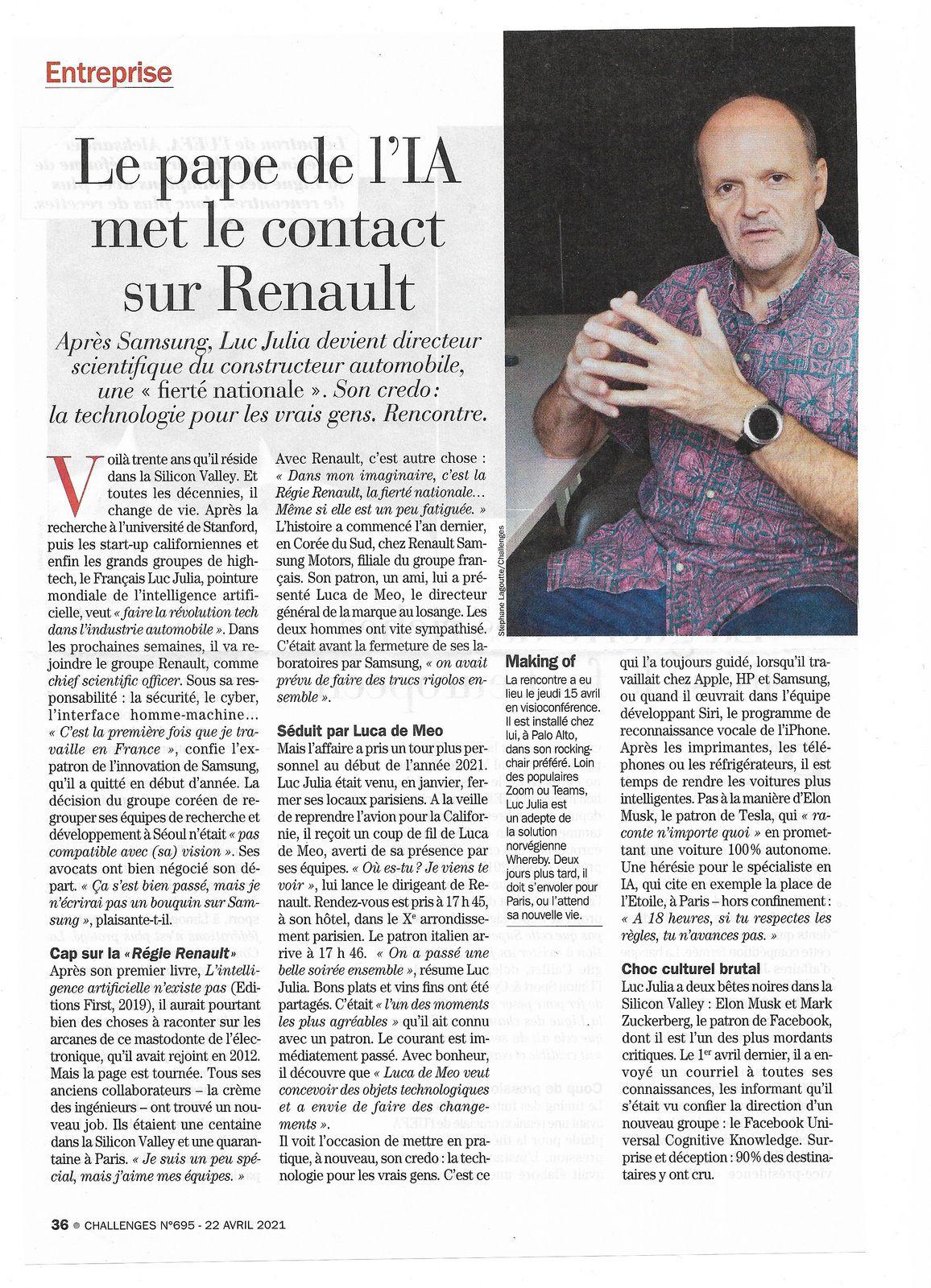 Vu et lu dans Challenges n° 695 du 22/04/21
