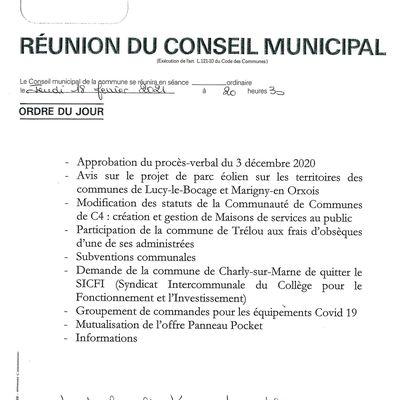 Conseil Municipal - 18 février 2021
