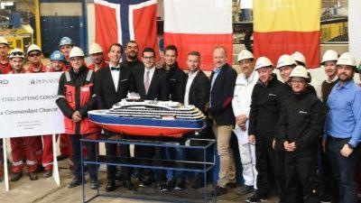 Ponant – Lancement officiel de la construction du navire d'exploration polaire, Le Commandant Charcot