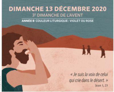 Paroisses de Genlis et Saint Just de Bretenières - Semaine du 12 au 20 décembre 2020 - 3ème  dimanche Avent Année B