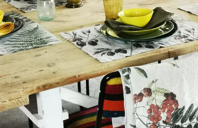 Linge de table en lin naturel