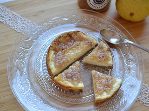 Mini cheesecakes à la confiture de poires noisettes