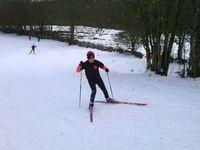 Premier entraînement sur les skis.