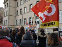 Mobilisation du 18 Mars devant l'inspection académique de Haute-Loire