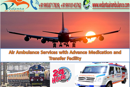 Air Ambulance in Guwahati with Advance Medication and Transfer Facility