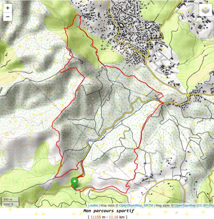 """Trace de la randonnée """"Le Mt Julien à partir du Parc de Pichauris"""""""