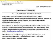 La LDNA offre 60 bourses d'études !!!
