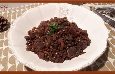 Lentilles aux oignons et betteraves au Cookéo
